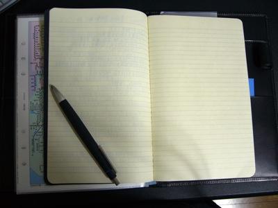 MOLESKINEのCahiersをノートとしてセット